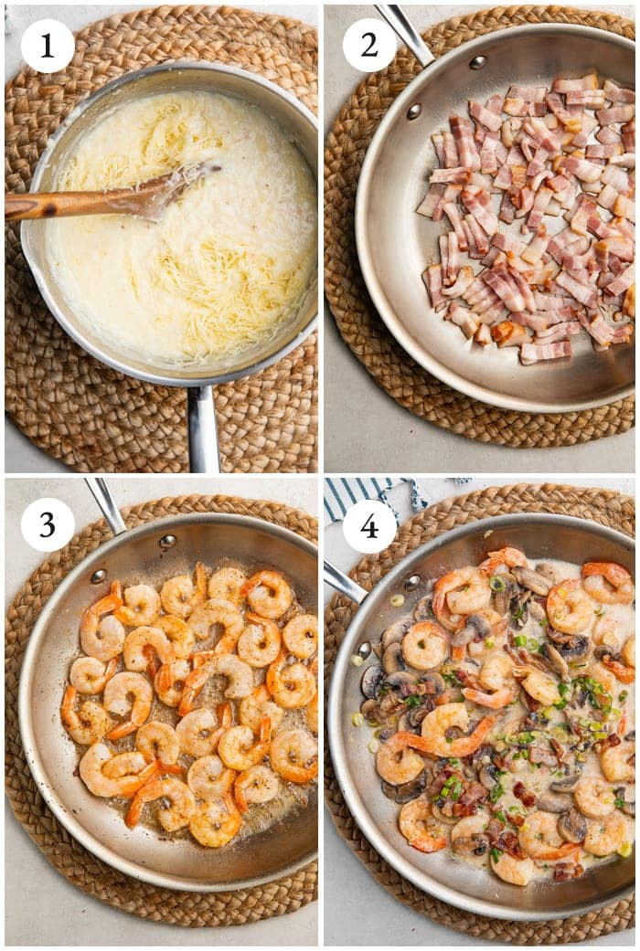 Instructions for shrimp and grits
