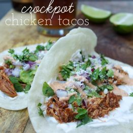Crockpot Chicken Tacos: Perfection