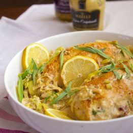 Creamy Tarragon-Dijon Chicken with Leeks
