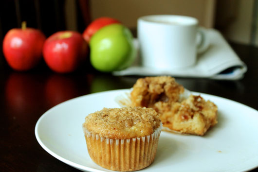 Apple Pie Muffins with Salted Caramel Centers // The Stylist Quo