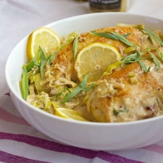 Creamy Tarragon-Dijon Chicken with Leeks - incredibly good