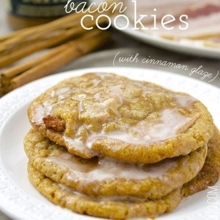Bacon Cookie Butter Cookies with Cinnamon Glaze // The Stylist Quo
