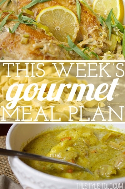Budget Gourmet Meal Plan #5 // The Stylist Quo