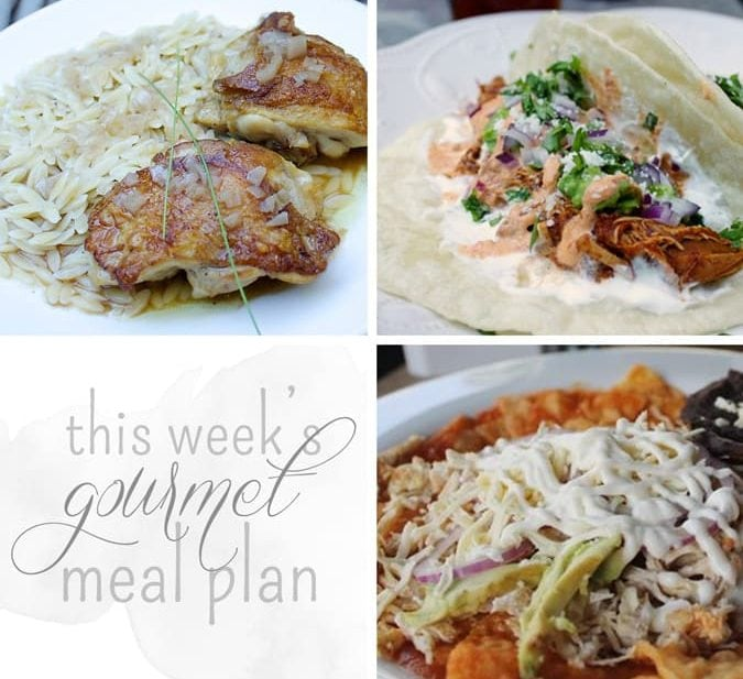 This Week's Gourmet Meal Plan // The Stylist Quo
