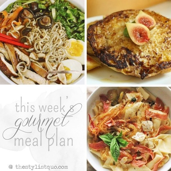 Gourmet Budget Meal Plan // The Stylist Quo