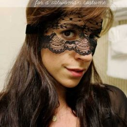 How to Make a Lace Mask for A DIY Catwoman Costume