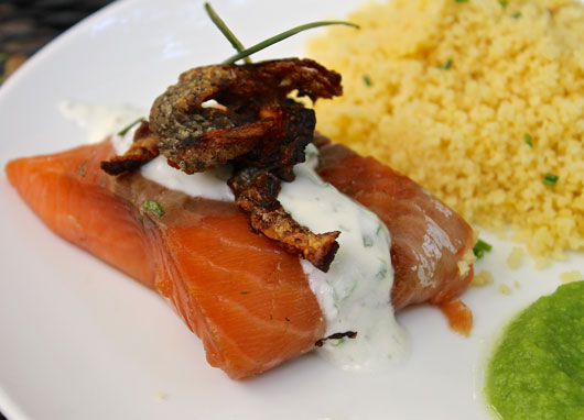 Sous Vide Smoked Salmon with Hack
