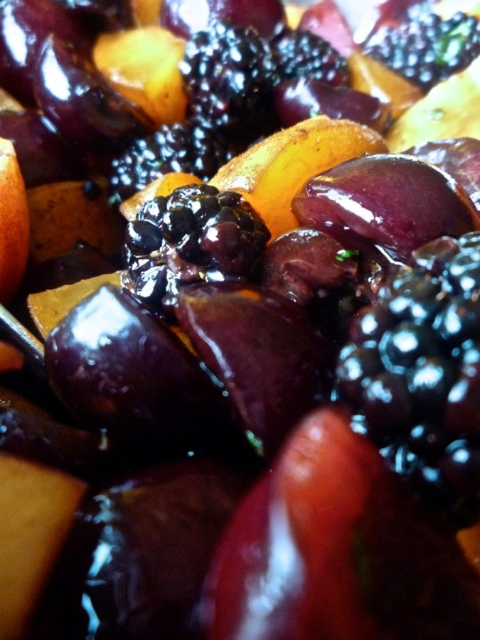 Summer Fruit Salad with Mint and Balsamic