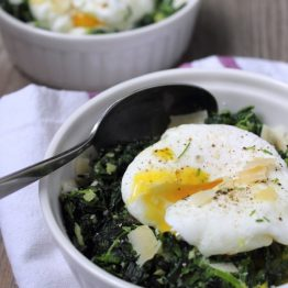 Italian Spinach with a Poached Egg