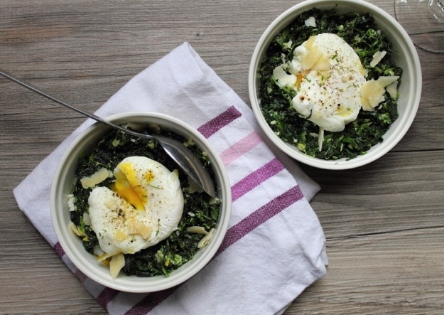 Italian Spinach with a Poached Egg // The Stylist Quo