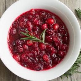 Rosemary Cranberry Sauce with Orange