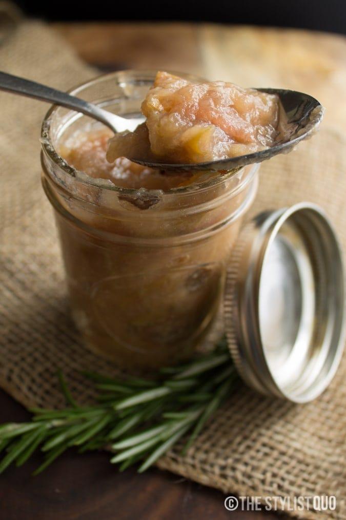 Homemade Rosemary Applesauce
