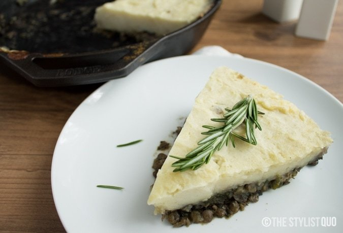 Lentil and Mushroom Vegetarian Shepherd's Pie