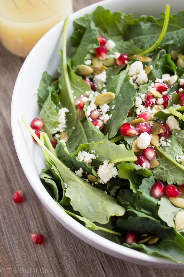 dijon vinaigrette pomegranate feta salad with lemon dijon vinaigrette ...