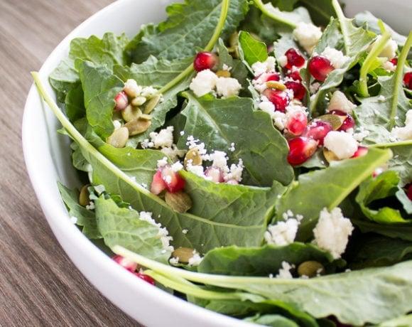 Pomegranate Feta Salad With Lemon Dijon Vinaigrette Recipe ...