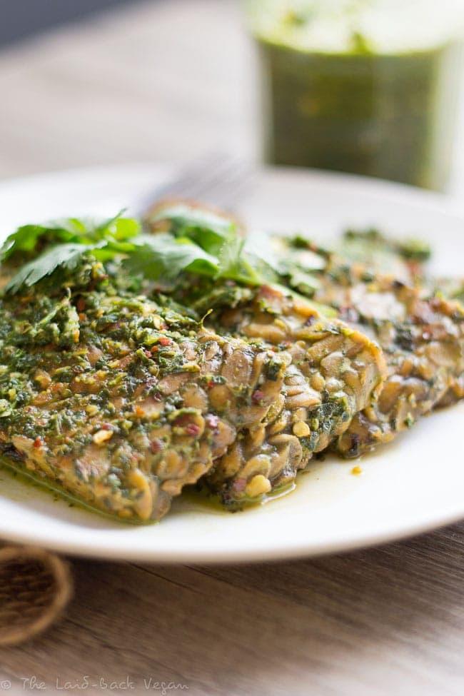 Chimichurri Tempeh (Vegan, Gluten-Free) // The Laidback Vegan