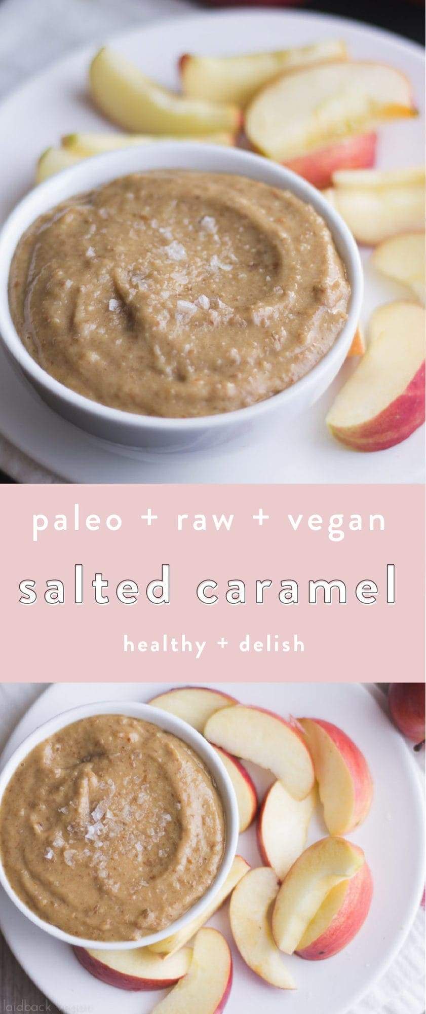 This paleo salted caramel is vegan, sugar free, and gluten free, but so delicious. It's quick and easy, and I promise you'll start putting it on everything. Made from only healthy ingredients, this vegan salted caramel is bound to become a staple in your home!