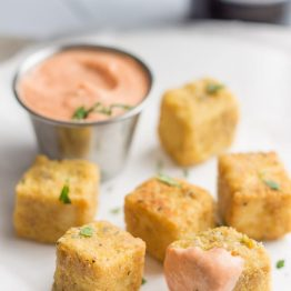 "Tofu ""Chicken"" Nuggets with Sriracha Mayo"