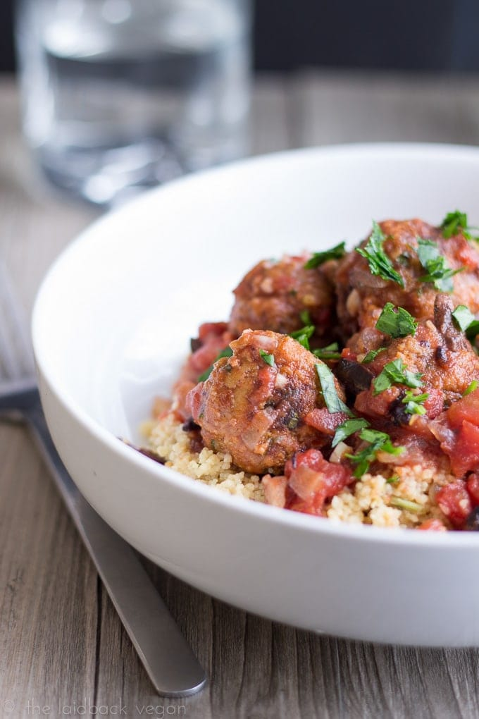 Vegan Moroccan Meatballs with Couscous // The Laidback Vegan