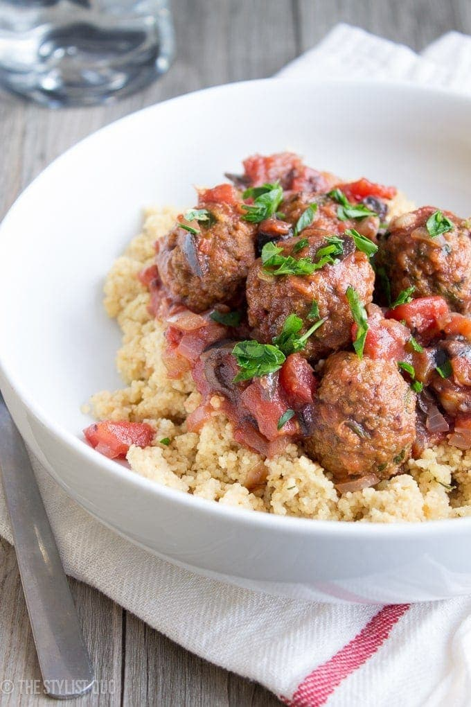 Moroccan Meatballs Over Couscous