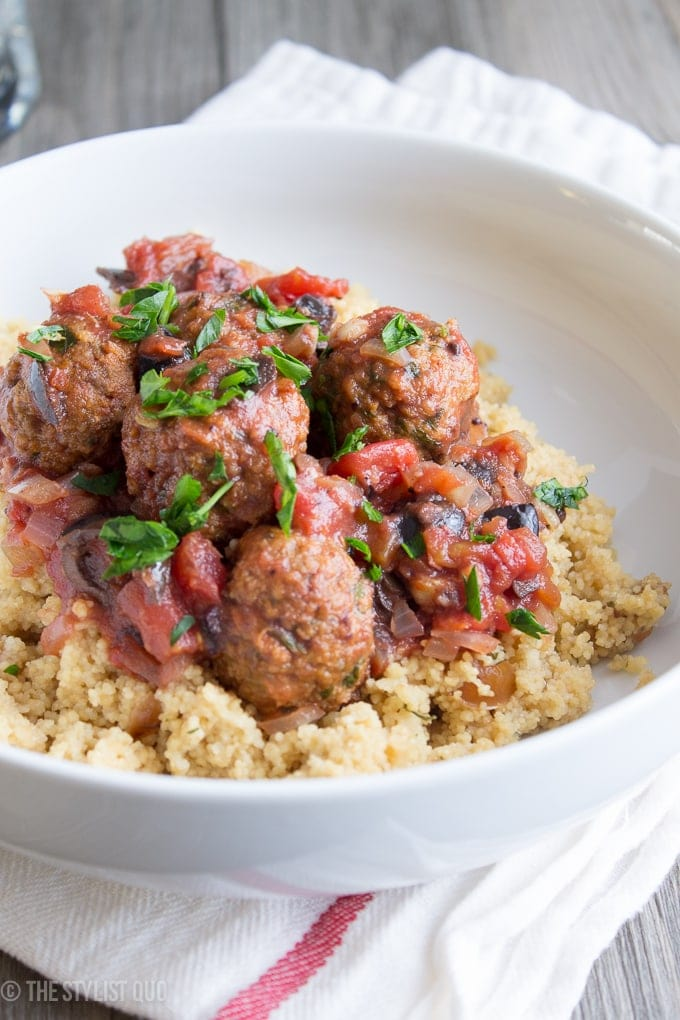 Moroccan Meatballs Over Couscous // The Stylist Quo