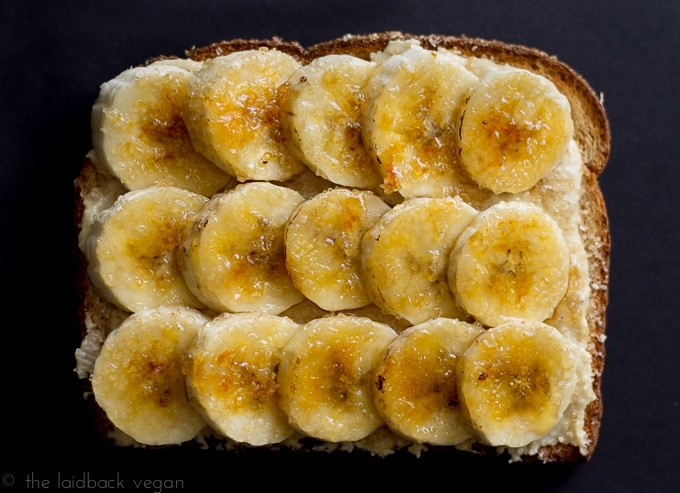 Peanut Butter Banana Toast // The Laidback Vegan