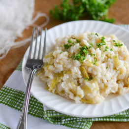 Creamy Risotto with Leeks by Melissa Belanger of Teaspoon of Happiness