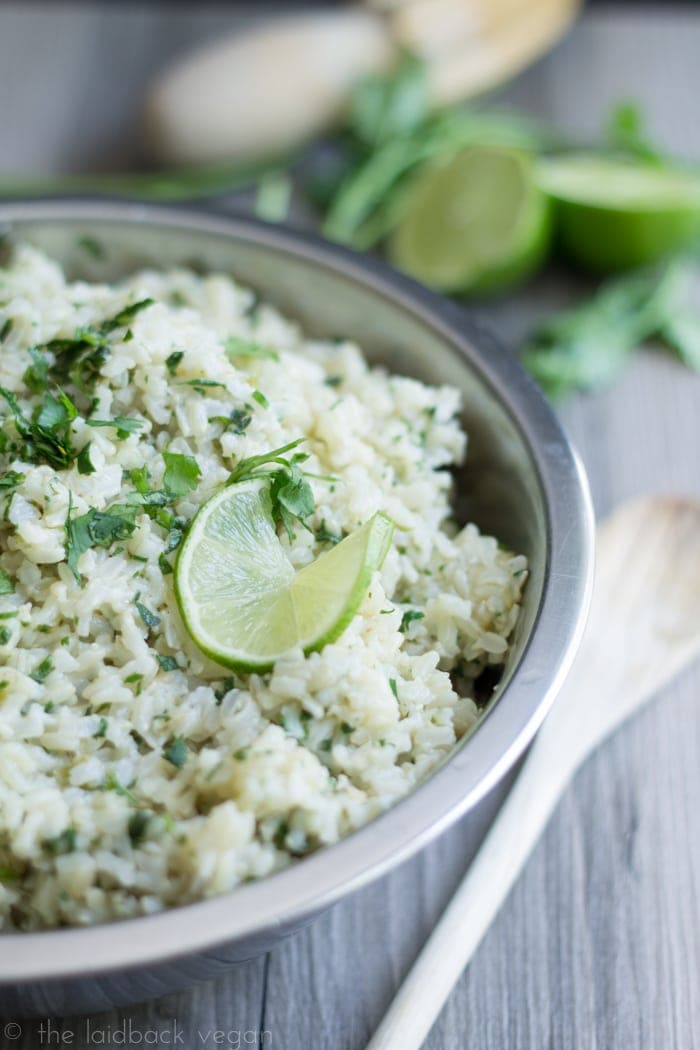 Cilantro Lime Brown Rice. Perfect, healthy side dish for the summer!