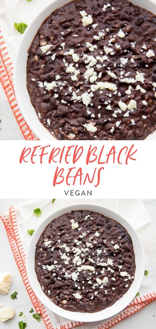 Refried Black Beans Pinterest image