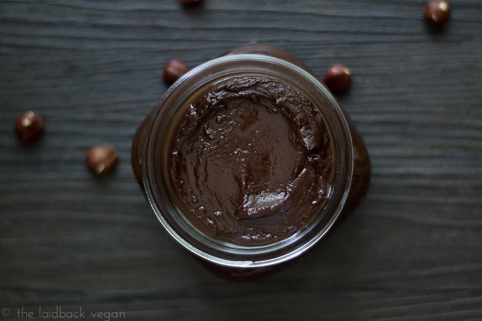 Vegan Nutella. Rich, aromatic, nutty.. this is the real deal!