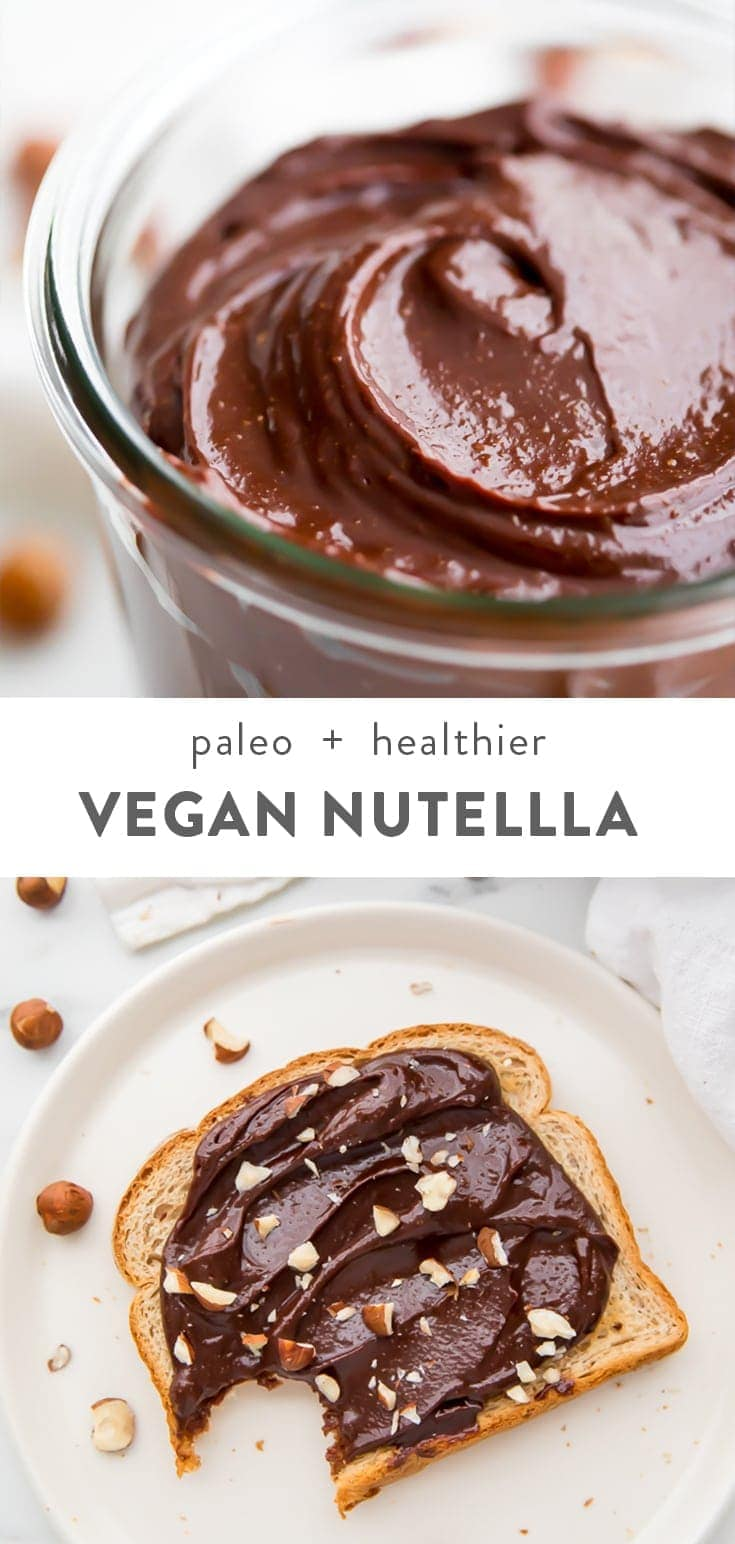 Vegan Nutella Pinterest image
