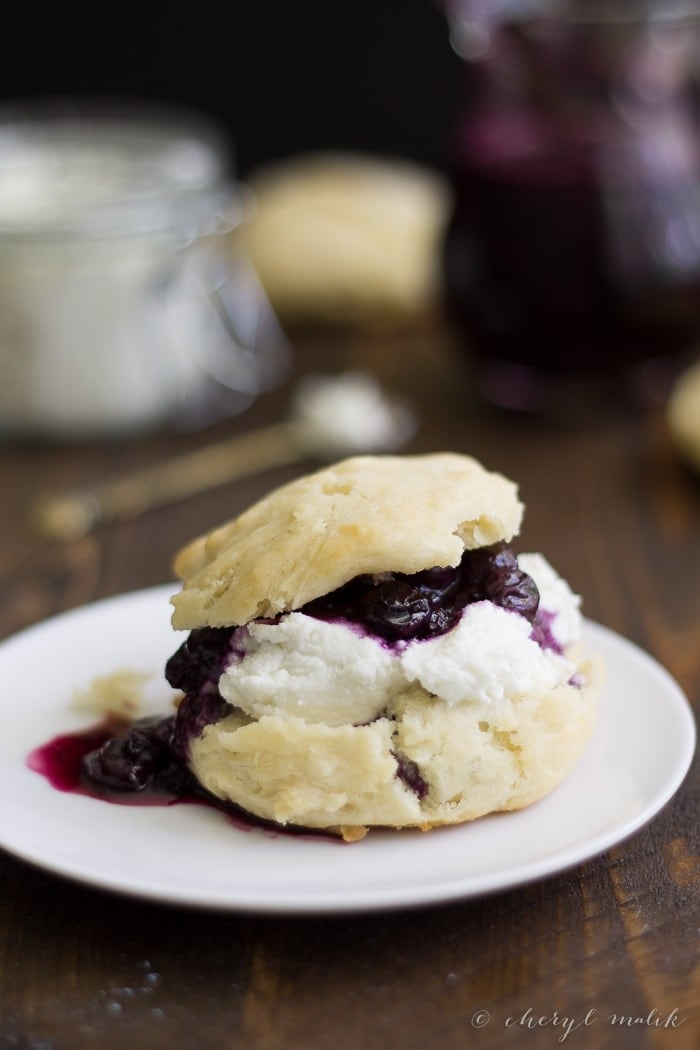 Biscuits with Goat Cheese and Blueberry Compote. Elegant yet homey, these are just unbelievable.
