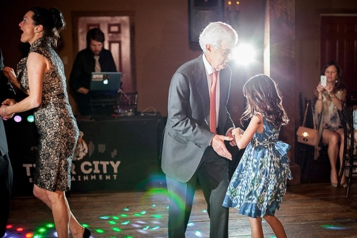 Gettin' down with grandpa!