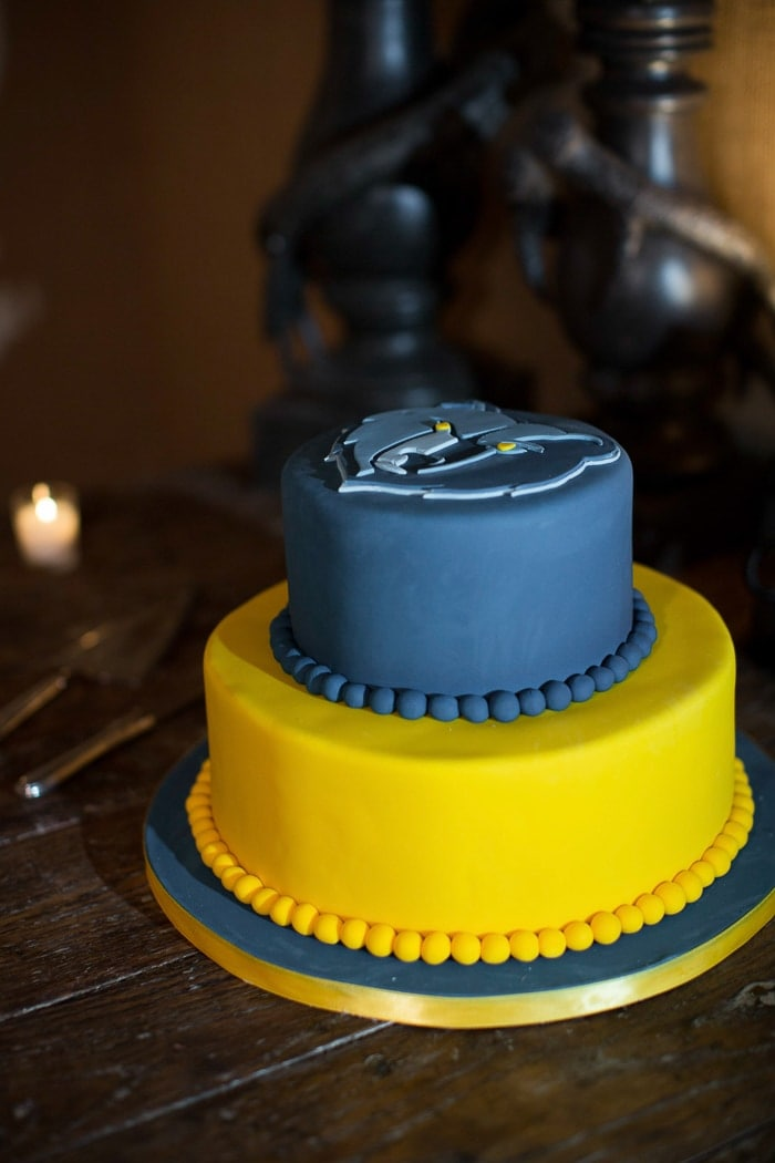 I surprised O with a Memphis Grizzlies-themed groom's cake!