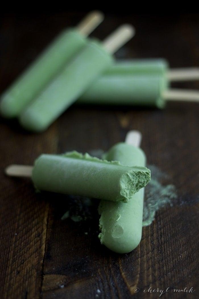 green tea coconut popsicles 40 aprons