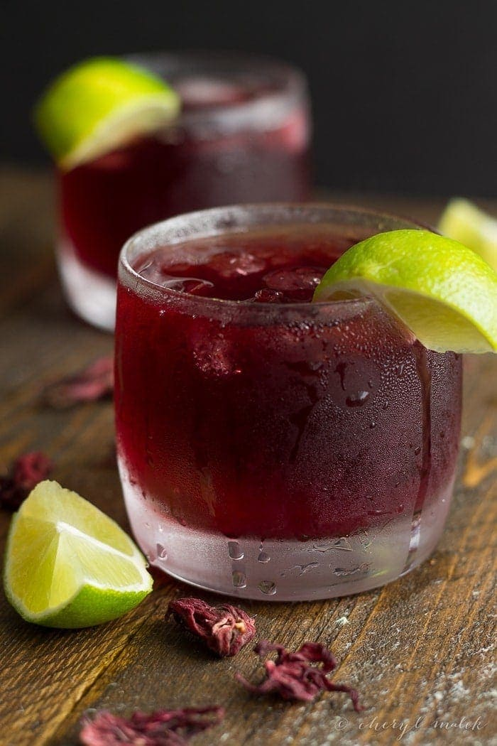 ... hibiscus tea maybe you have but it was called agua de jamaica agua