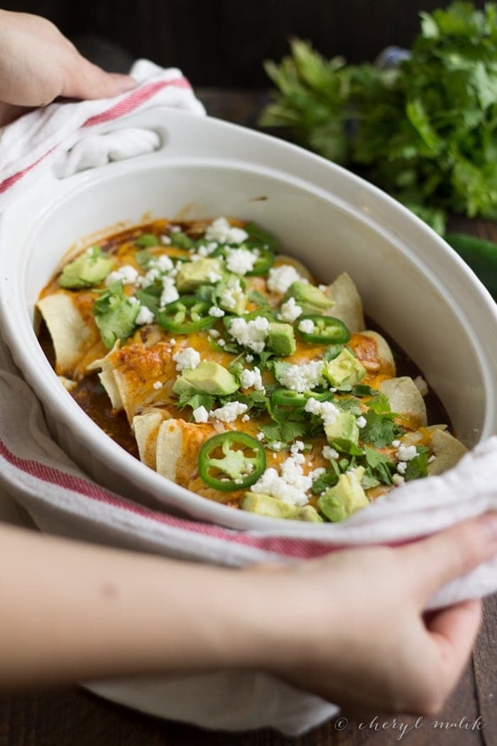 Vegetarian Enchiladas with Goat Cheese. Unbelievably tasty and so ...