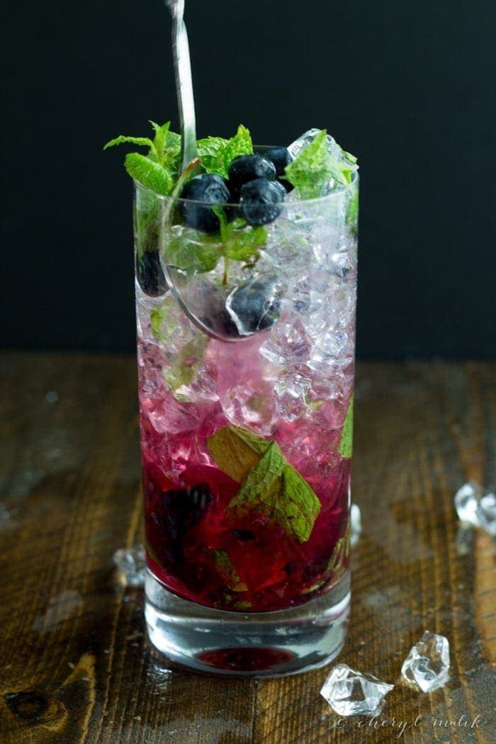 Blueberry mojitos 40 aprons for Cocktail 40 ans