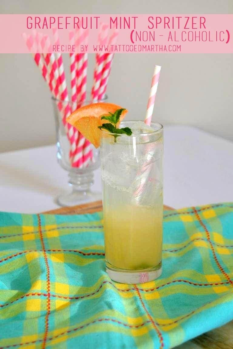 Tattooed Martha - Grapefruit Mint Spritzer (Non-Alcoholic) (1)