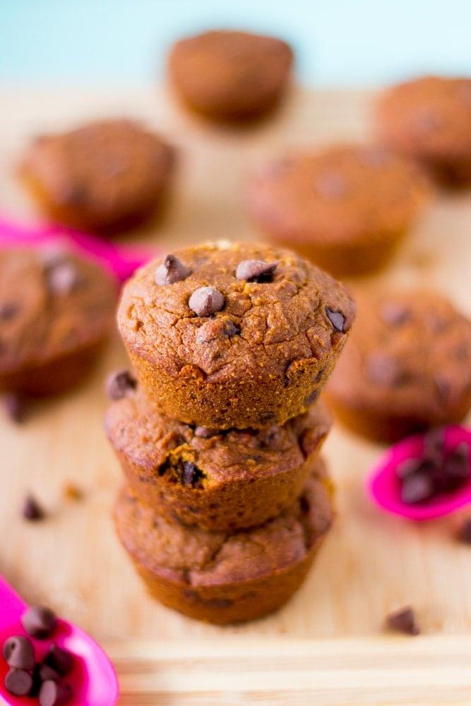 Vegan Pumpkin Chocolate Chip Muffins from Jessica in the Kitchen