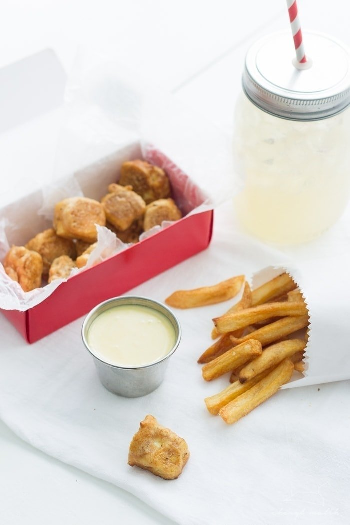 "Chickfila Tofu Nuggets. Vegan and judgment-free, these little bites taste so close to the ""real thing""!"