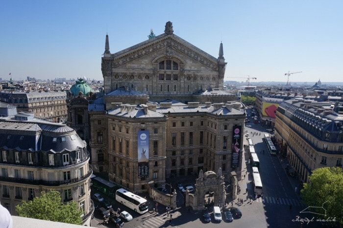 The Opéra, from the roof of the Galleries-Lafayette, in the aptly named Opéra neighborhood our hotel was in