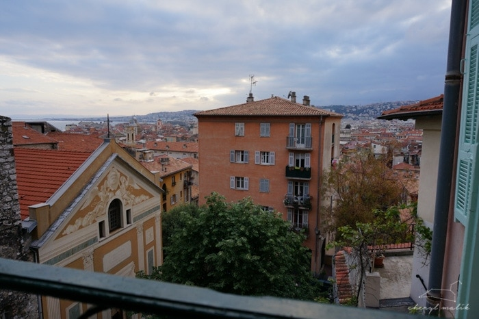 But then we were like, 'nuff of that! Let's go to Nice. This is the view from our apartment. So...