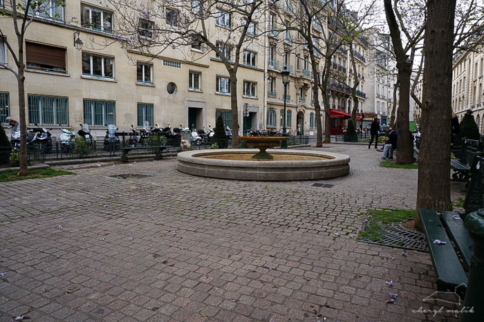 When we went back to Paris, we spent some time in the industrial little garden near where I went to school in Paris, and where I was once attacked by a pigeon while I was reading En Cherchant du Temps Perdu (In Search of Lost Time, the harder version)