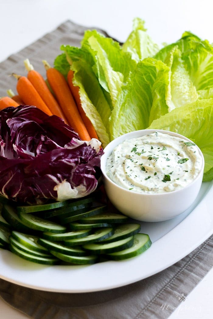 Creamy herb dip - this dip is perfect for the holidays and is so rich and full of flavor!