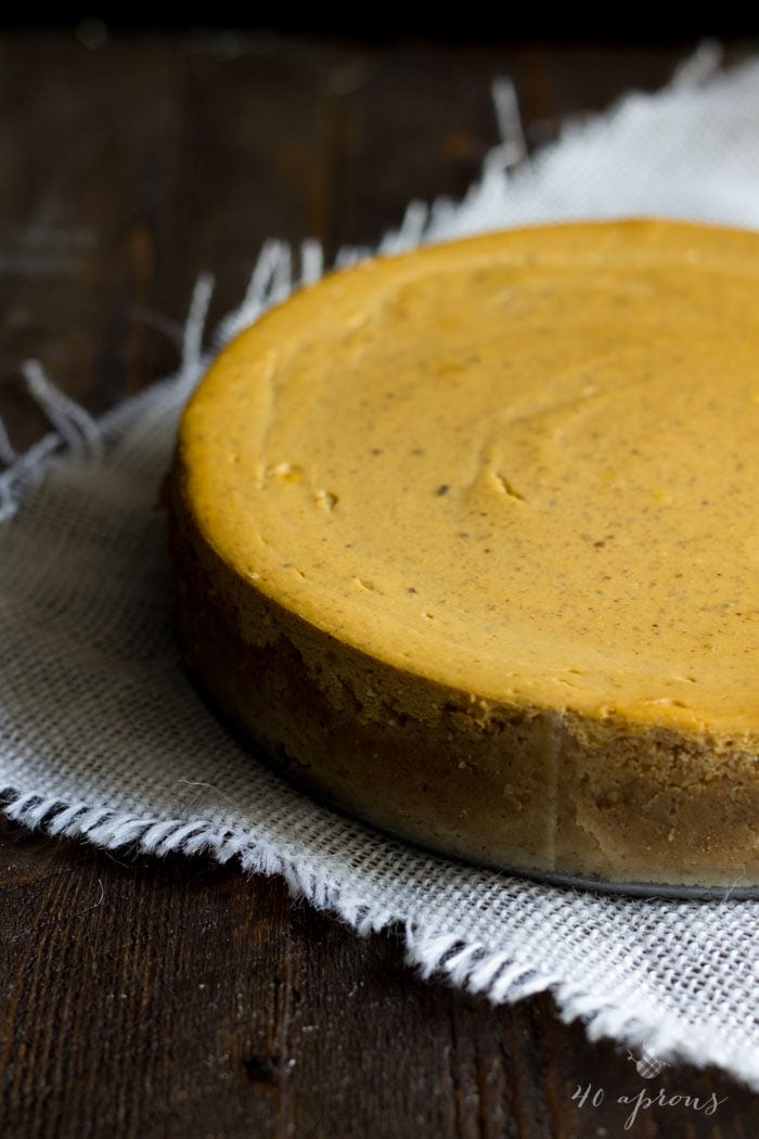 Classic vegan pumpkin cheesecake with whipped coconut cream: absolutely perfect for Thanksgiving and Christmas!