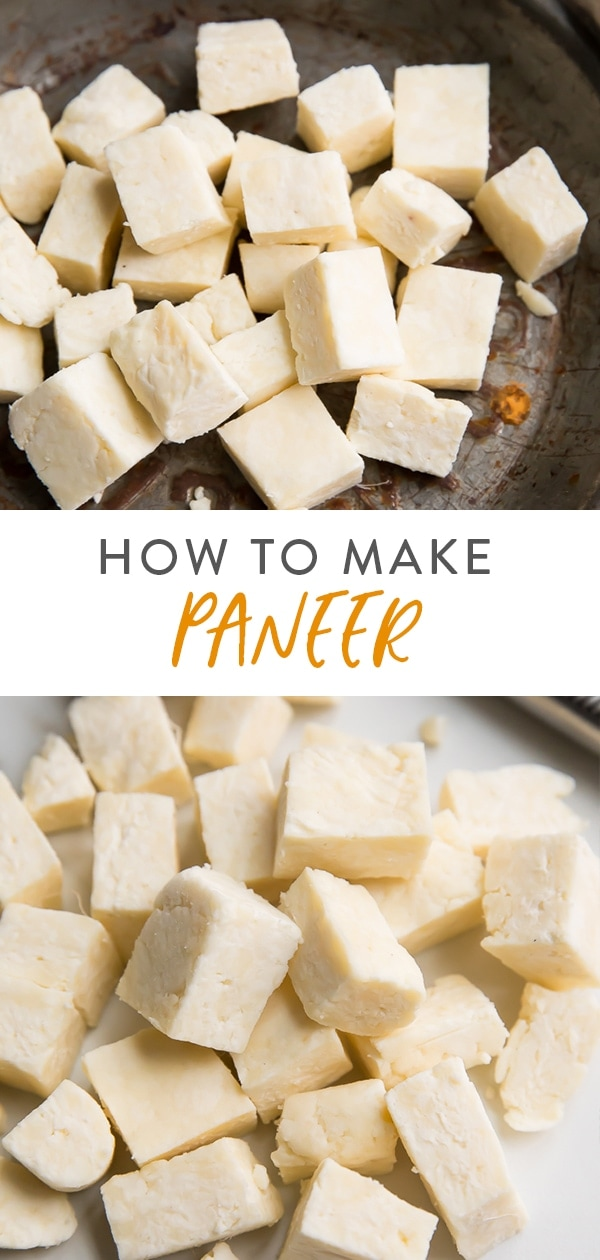 How to make paneer (Indian cheese) Pinterest image