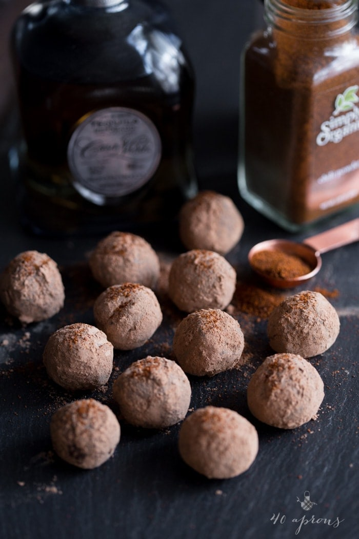 Mexican chili-tequila truffles: Creamy dark chocolate truffles with spicy chili powder, heady tequila, and warm cinnamon make for an elegant, yet feisty candy