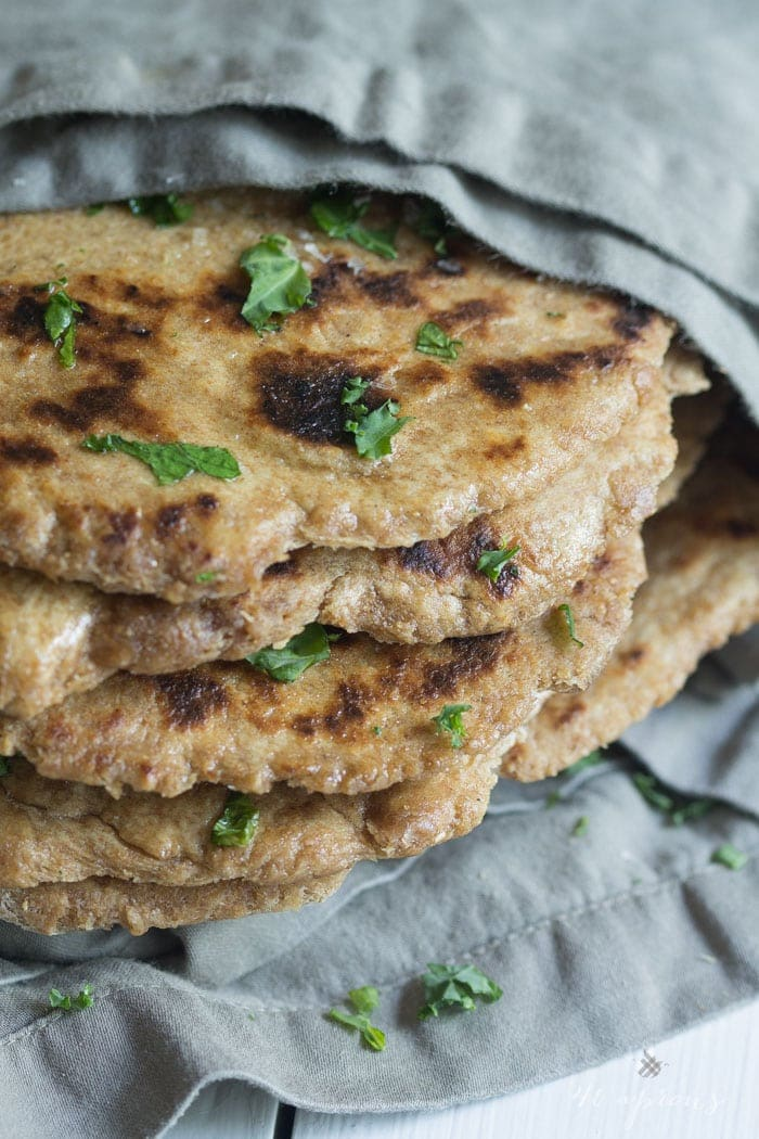 A nutty, simple whole-wheat naan that's absolutely perfect for homemade curries
