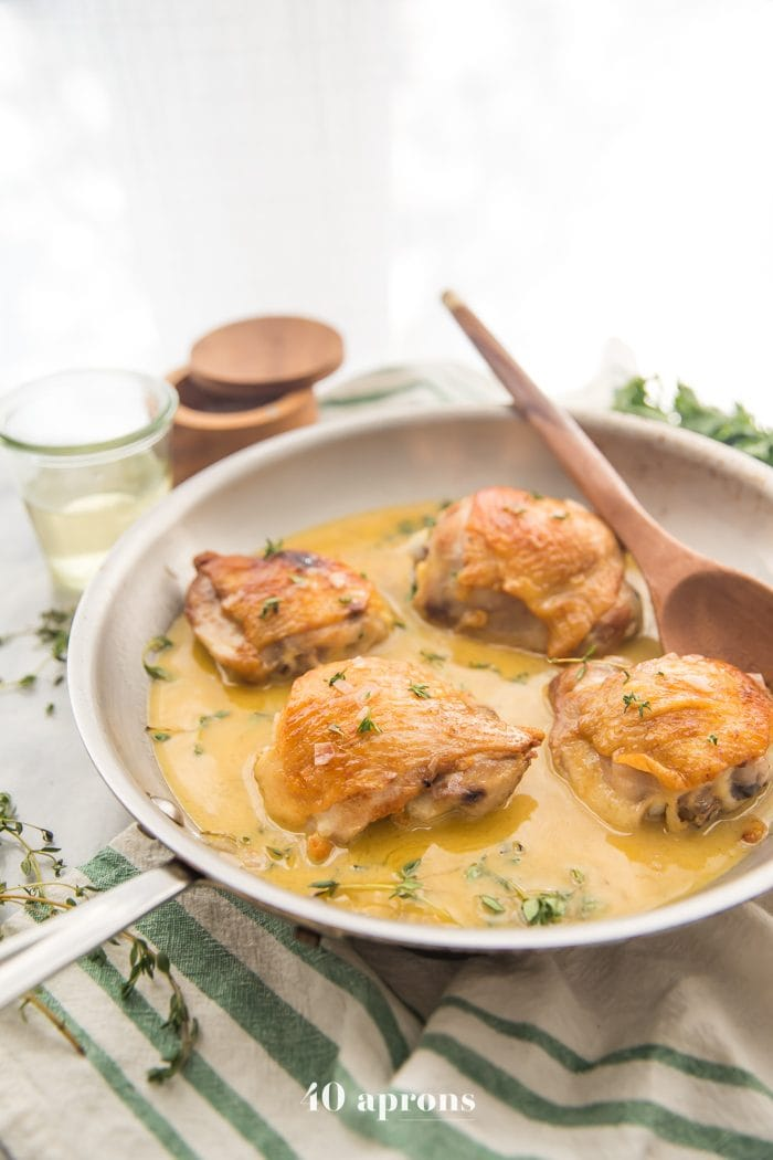 Perfect Pan Seared Chicken Thighs With Pan Sauce 40 Aprons